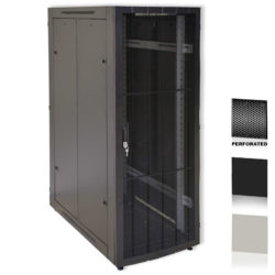 "12U 19"" Black Network Cabinets 600 X 1000 Perforated Door"