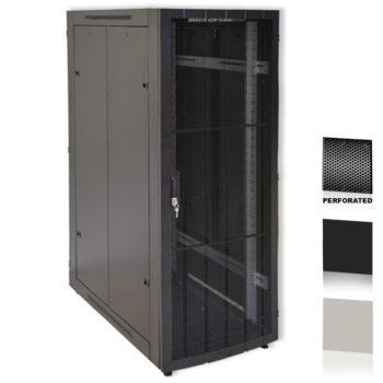 "12U 19"" Black Network Cabinets 600 X 1000 Perforated Door"