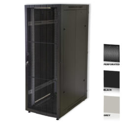 "12U 19"" Black Network Cabinets 600 X 800 Perforated Door"