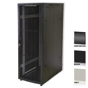 "12U 19"" Black Network Cabinets 600 X 800 Perforated Door"