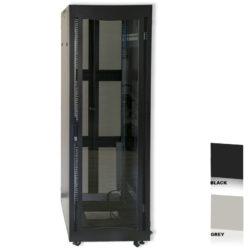 """16U 19"""" Black Network Cabinets 600 X 800 Glass Door"""