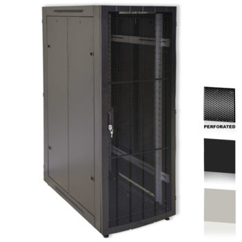 "20U 19"" Black Network Cabinets 600 X 1000 Perforated Door"