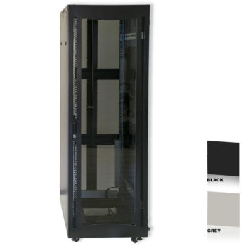 "20U 19"" Black Network Cabinets 600 X 800 Glass Door"