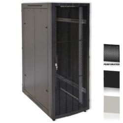 "25U 19"" Black Network Cabinets 600 X 1000 Perforated Door"