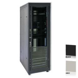 "25U 19"" Black Network Cabinets 600 X 600 Glass Door"