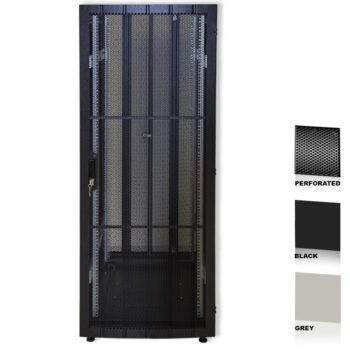 "25U 19"" Black Network Cabinets 600 X 600 Perforated Door"