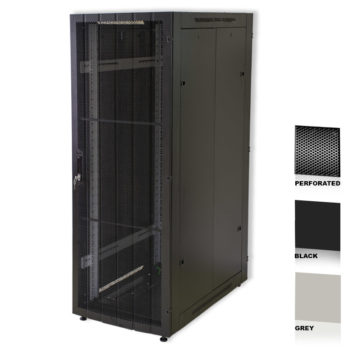 "25U 19"" Black Network Cabinets 600 X 800 Perforated Door"