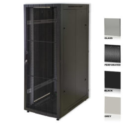 "25U 19"" Black Network Cabinets 800 X 1000 Perforated"