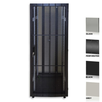 """25U 19"""" Grey Network Cabinets 600 X 1200 Glass Perforated"""