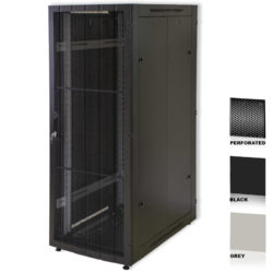 "25U 19"" Grey Network Cabinets 600 X 800 Perforated Door"