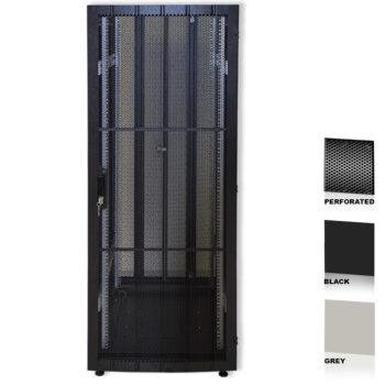 "34U 19"" Black Network Cabinets 600 X 600 Perforated Door"