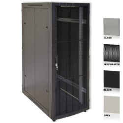 "34U 19"" Grey Network Cabinets 800 X 1200 Glass Perforated"