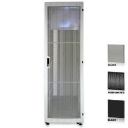 "38U 19"" Black Network Cabinets 600 X 1200 Glass Perforated"