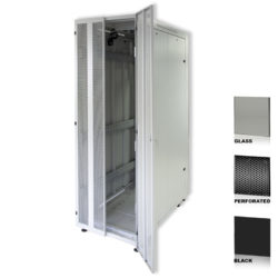 "38U 19"" Black Network Cabinets 800 X 1000 Glass Perforated"