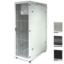 "38U 19"" Black Network Cabinets 800 X 1200 Glass Perforated"