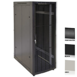 "38U 19"" Grey Network Cabinets 600 X 1000 Glass Perforated"