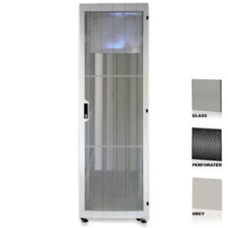 "38U 19"" Grey Network Cabinets 600 X 1200 Glass Perforated"