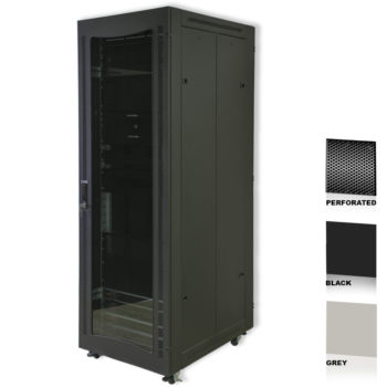 "42U 19"" Black Network Cabinets 600 X 1000 Perforated"