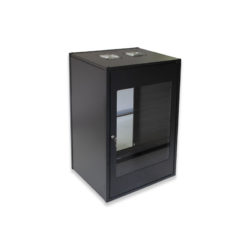 12U Wall Mount Flat Pack Standard Cabinet 450mm Glass