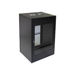 15U Wall Mount Standard Cabinet 450mm Glass