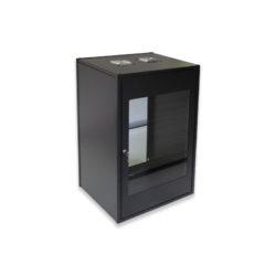 20U Wall Mount Flat Pack Standard Cabinet 450mm Glass