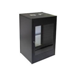 4U Wall Mount Standard Cabinet 450mm Glass